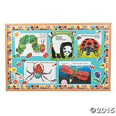 The World of Eric Carle™ Books Bulletin Board Set, Bulletin Board Sets, Bulletin Board Supplies, Teacher Resources, Teaching Supplies & Stationery - Oriental Trading