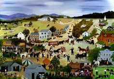 Country Fair (1950) painting by Grandma Moses