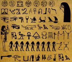 Jeroglíficos y simbolos
