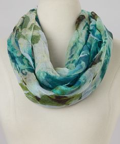 Loving this Blue Rock'n Rose Infinity Scarf on #zulily! #zulilyfinds