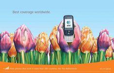 Hollande :   Publicité mondiale de téléphones