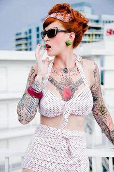 Tatooed lady. #tattoo #tattoos #ink