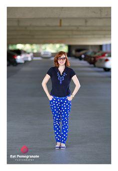 DIY polka dot jeans! Super cute pair made with @oldnavy skinnies.