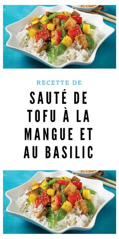 #recettevégétarienne #sauté #tofu #mangue #basilic Tofu, Tacos, Vegan, Ethnic Recipes, White Wine Vinegar, Balsamic Vinegar, Vegetarische Rezepte, Veggie Dishes, Basil