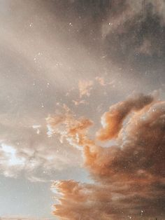 aesthetic sky wallpapers weheartit beige pastel brown clouds space collage