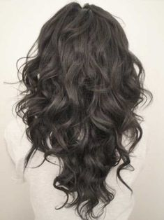 """15 Long Curly Hair Cuts My favorite cut on long hair is the """"v layer"""" cut. I call it the Victoria's Secret models' hair Party Hairstyles For Long Hair, Long Curly Haircuts, Pretty Hairstyles, Black Hairstyles, Layered Haircuts, Hairstyles Haircuts, Hairstyle Ideas, Amazing Hairstyles, Wedding Hairstyles"""
