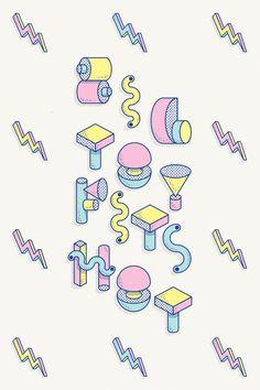 D / Lettering + BIG TOY Typeface by Vicente García Morillo, via Behance