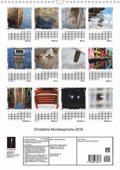 Kalender - Christliche Monatssprüche - Übersicht