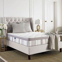 Safavieh Utopia 11.5-inch Pillow-top Spring Full-size Mattress Bed-in-a-Box (MAT1003A-F), White