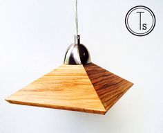 Modern Wooden Shade Hanging Lamp -  Traditional or Contemporary Ceiling Lamp - Geometric by TildeStudios on Etsy https://www.etsy.com/listing/230963593/modern-wooden-shade-hanging-lamp