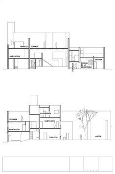 Clásicos de Arquitectura: Casa-Estudio Luis Barragán / Luis Barragán,Cortes