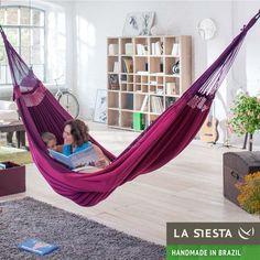 XXL Brazilian Family Hammock : MARÉS FUCHSIA   RelaxTribe™