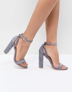 fcceb6c5656e Lost Ink Blaise Gray Block Heel Sandals Grey Block Heel Sandals
