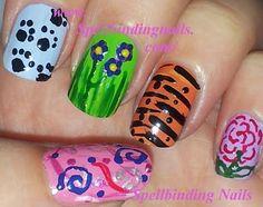 Funky nail art designs by Sarah from Spellbinding Nails using Rio Professional Nail Art pens... we love!