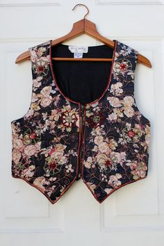 Floral Embroidered Vest