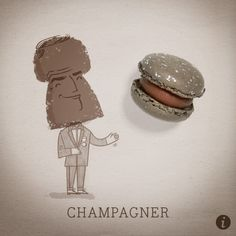 Champagner Macaron