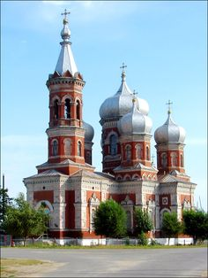 Volgograd oblast cathedral Russian Architecture, Sacred Architecture, Religious Architecture, Church Architecture, Russian Orthodox, Cathedral Church, Old Churches, Church Building, Amazing Buildings