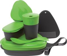 Light My Fire 8Piece BPAFree Meal Kit 20 with Plate Bowl Cup Cutting Board Spork and More Green >>> You can get additional details at the image link.-It is an affiliate link to Amazon. #KitchenUtensils