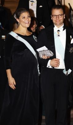Crown Princess Victoria and Prince Daniel attends the formal gathering of the Swedish Academy at Börshuset in Stockholm