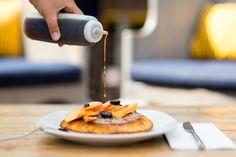 Amazing pancakes at Cru Oyster Bar and Restaurant, Nantucket.