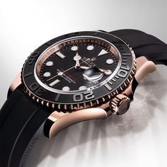 Sleek, sporty and distinguished, the Yacht-Master is just as at home on the deck of a yacht as on land in an elegant yacht club lounge. Yacht-Master 40 in 18ct Everose gold, with an Oysterflex bracelet in elastomer and a Cerachrom bezel in black ceramic.  #Rolex #YachtMaster #101031  For more details about this watch see the link in profile.