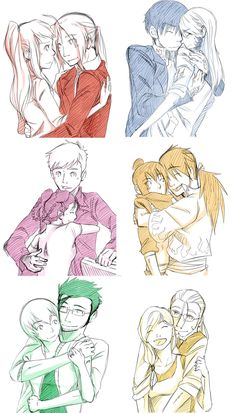 FMA Brotherhood couples  i love this anime way too much.