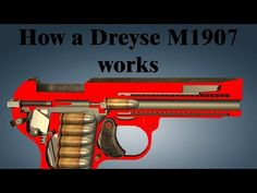 The Dreyse Model 1907 is a semi-automatic pistol designed by Louis Schmeisser. The gun was named after Nikolaus von Dreyse, the designer of the Dreyse Needle. Hand Guns, Nerf, Weapons, It Works, Youtube, Design, Firearms, Guns, Pistols