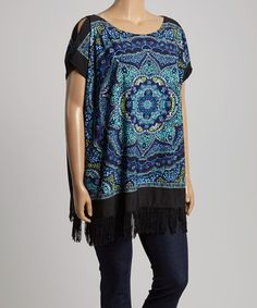 Another great find on #zulily! Blue & Green Abstract Tunic - Plus #zulilyfinds