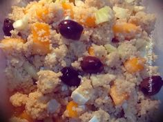 Babettes gæstebud.: Couscous with olives, feta cheese and melon