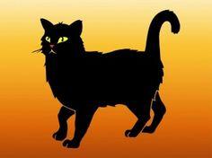 Schwarze Katze zu Fuß Tier Aufkleber