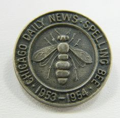 Sterling Silver Spelling Bee Lapel Pin by QueeniesCollectibles, $11.99