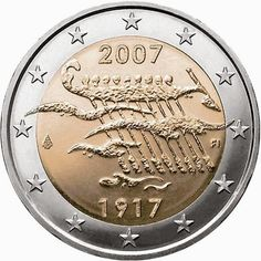 2 euro coins Finland 2007, 90th Anniversary of Finland's Independence