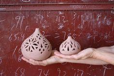 Mimi Robinson Design: ceramic lanterns, handmade in Egypt