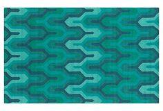 Burbank Rug, Green/Blue on OneKingsLane.com