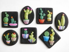Items similar to Cactus Magnet, polymer clay refrigerator magnet on Etsy - Hobbies paining body for kids and adult Polymer Clay Magnet, Clay Magnets, Polymer Clay Kunst, Fimo Clay, Polymer Clay Charms, Polymer Clay Jewelry, Clay Art Projects, Polymer Clay Projects, Clay Crafts