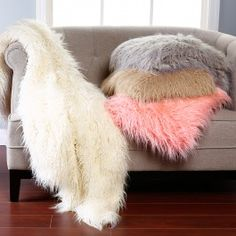 Lush, plush, soft and shaggy, our Mongolian Lamb faux fur throw is a stunning addition to any couch, chair or bedLuxuriously lined with a color matched velvety backingAvailable in two sizes: 58