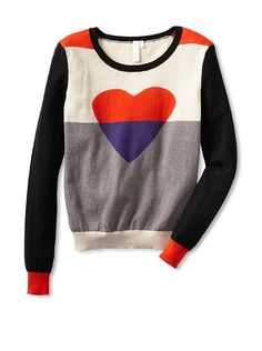 Heart Color Blocked Sweater from MYHABIT - love it! $68 cotton/cashmere blend