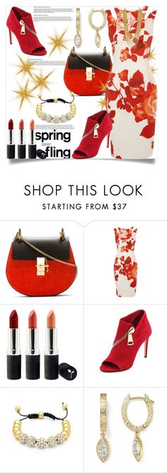 """""""Spring Fling"""" by helenaymangual ❤ liked on Polyvore featuring Chloé, Karen Millen, Terre Mère, Jean-Michel Cazabat and Bloomingdale's"""