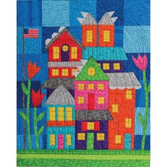 Are you looking for something unique quilt pattern? Well, this is the answer for your long time search. This Art Haus Quilt is a cute quilt pattern that you'll enjoy making. House Quilt Patterns, House Quilt Block, Patchwork Patterns, Quilt Block Patterns, Sewing Patterns Free, Quilt Blocks, Free Pattern, Pattern Sewing, Free Sewing
