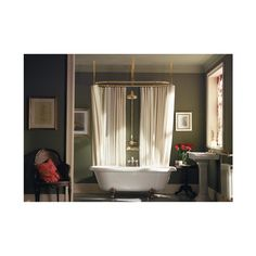 Myson CR/5PN Pecos Oval Curtain Rail 60 Inch X 28 Inch In Polished N-