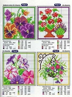 Cross-stitch Floral Cards patterns, part Gallery. 123 Cross Stitch, Cross Stitch Needles, Cross Stitch Cards, Cross Stitch Flowers, Cross Stitch Designs, Cross Stitching, Cross Stitch Embroidery, Embroidery Patterns, Cross Stitch Patterns