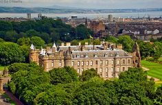 Castle of Holyroodhouse in Edinburgh, Scotland. Founded as a monastery by David I, King of Scots in 1128, it has served as the principal residence of the Kings and Queens of Scotland since the 15th century.