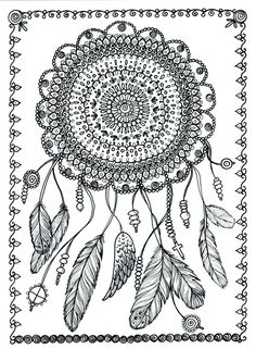 Adult Coloring Pages Dream Catcher Awesome Poster Dreamcatcher Art to Color 11 X 14 by Adult Coloring Pages, Coloring Pages For Grown Ups, Mandala Coloring Pages, Colouring Pages, Printable Coloring Pages, Coloring Books, Coloring Sheets, Dream Catcher Coloring Pages, Art Zen