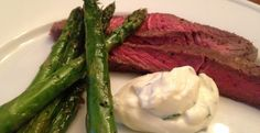 Fast Weeknight Dinner—Sirloin Steak With Asparagus And Blue Cheese Sauce