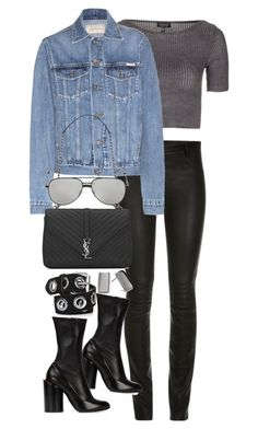"""""""Untitled #3163"""" by angieswardrobe ❤ liked on Polyvore featuring Topshop, Calvin Klein Jeans, Givenchy, Yves Saint Laurent and Chico's"""