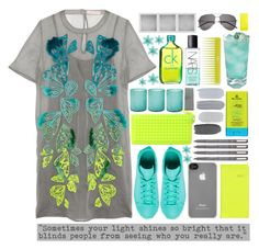 Bright by valdep on Polyvore featuring polyvore, fashion, style, Matthew Williamson, adidas, RumbaTime, Incase, Yves Saint Laurent, Calvin Klein, NARS Cosmetics, MDSolarSciences, Olive, Jamie Young, Schönbuch, Holga and clothing