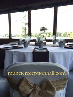#Wedding #Reception  #Rustic #Burlap #GolfCourse