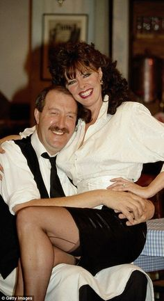 Allo, Allo stars turn out to say farewell to Gorden Kaye - Michelle, pictured with Kaye on Allo Allo, called him a 'brilliantly talented actor' - Vicki Michelle, Wedding Reception Music, Wedding Shot, Celebrities In Stockings, Dance London, Lace Weddings, Country Weddings, Vintage Weddings, Wedding Playlist