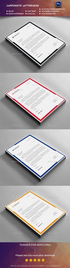 Letterhead Design Template PSD