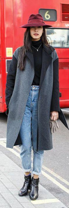 Si Tanwiboon, model, Joseph coat, Ralph Lauren jumper and Topshop jeans.